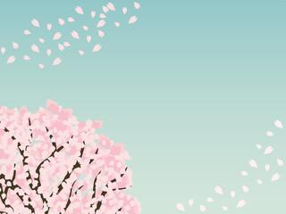 桜の木 背景素材