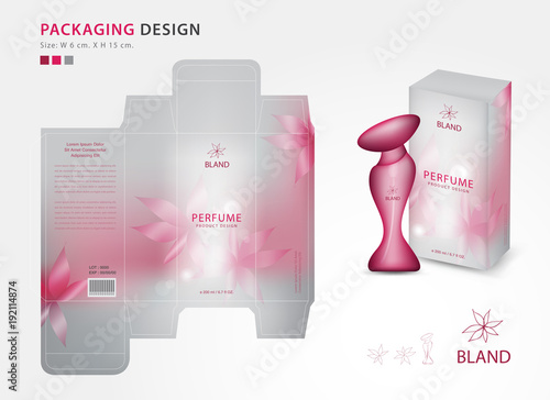 cologne box template - packaging perfume template box product design creative