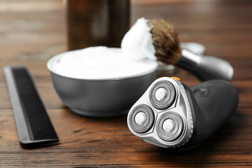 Shaving accessories for man on table