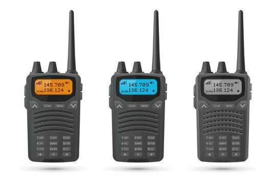 Radio transceivers. Set of 3d models