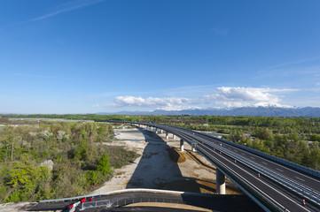 Modern highway in Piedmont