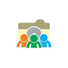 People Camera Logo Icon Design