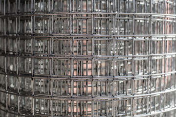 Re-bar Metal Grid. Abstract steel design. metal bars background