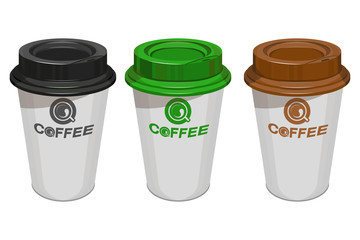 Cup of coffee. Coffee logo. Modern vector illustration for web and mobile. Сoffee beans.