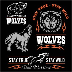 Wolves Patch - vector set