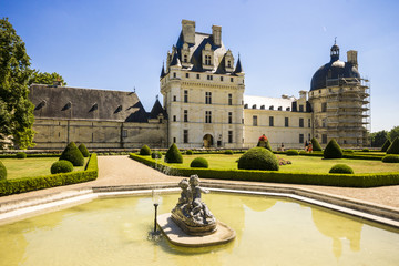 Fototapeten Schloss The Château de Valençay, a residence of the d'Estampes and Talleyrand-Périgord families in the commune of Valençay, Indre department, France