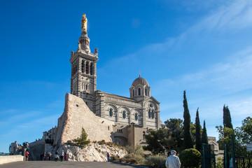 Fotorollo Denkmal Basilique Notre Dame de la Garde , Marseille