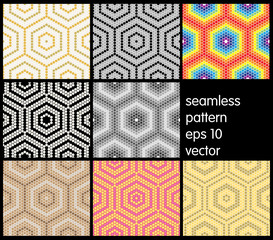 Set of Honeycomb background texture