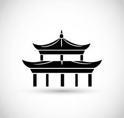 Pagoda icon vector