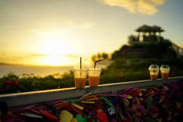 Guam Two Lovers Point and Mango juice.