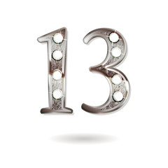 13 years anniversary celebration design