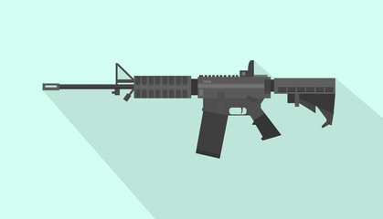m4 carbine riffle gun with flat style and long shadow