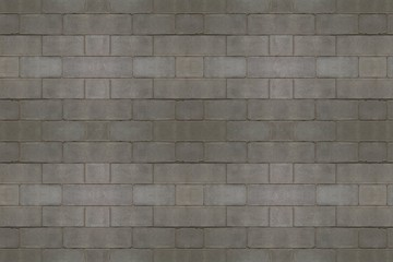 Concrete brick solid wall grey background