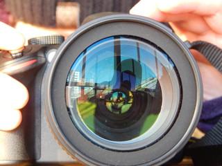 Kameralinse Nahaufnahme