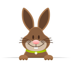 Single Easter Bunny Horizontal Banner Green