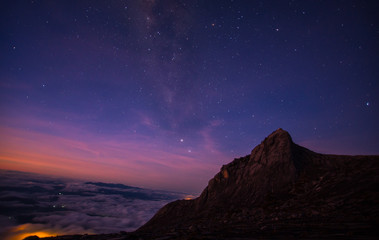 amazing view mountain Kinabalu of Borneo in a various point of view