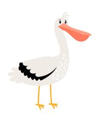Pelican cartoon bird icon