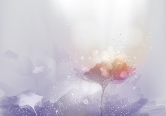 Beautiful abstract landscape / Ultra violet background