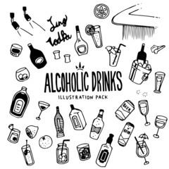 Alcoholic Illustration Pack