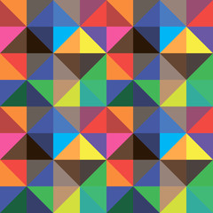 Abstract background of color triangles, vector design