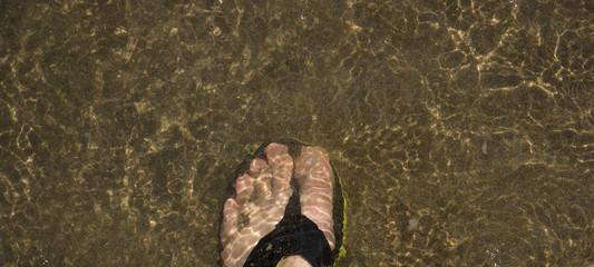 Strand, Wasser, Flip Flop