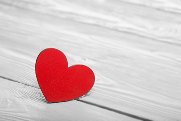 valentine's day hearts on wooden light background.in love concept