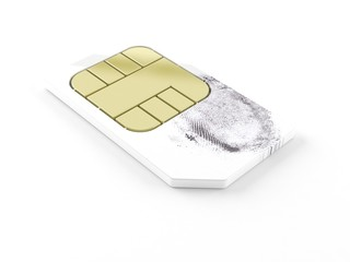 Sim card with finger print