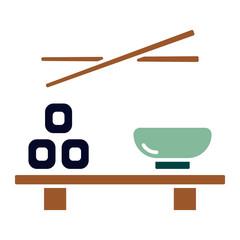 Asiatisches Essen (Icon) - Sushibrett