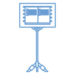 Music stand for scores icon