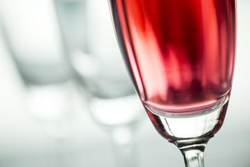 abstrack art of wine glasses