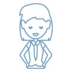 Cartoon businesswoman icon