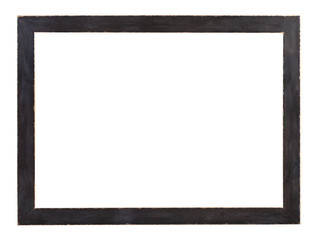 modern flat dark gray painted wooden picture frame