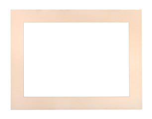 wide flat pale peach colored passe-partout