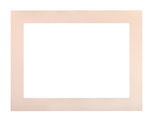flat pale colored passe-partout for picture frame