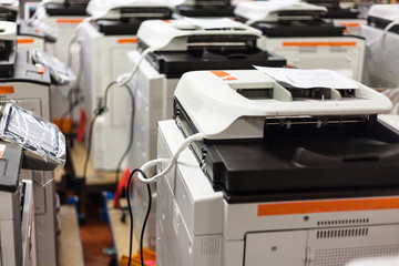 new assembled copiers on stock in factory