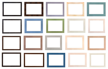 wooden picture frames and various passe-partout