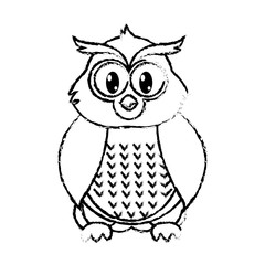 grunge owl cute wild animal character