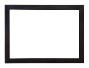 modern wide flat black wooden picture frame