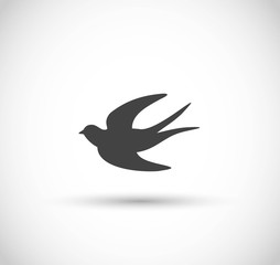 Swallow icon vector