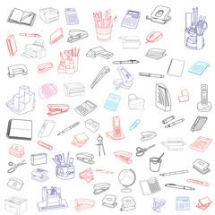 Doodles vector set