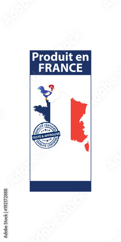 Made In France Sticker Stamp For Print Contains The Map And The
