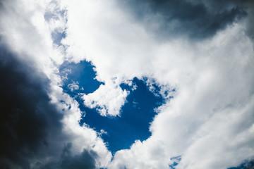 cloud shapes sky in heart