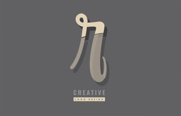 grey yellow modern alphabet letter r logo icon design