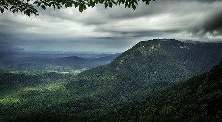 A view of Agumbe viewpoint