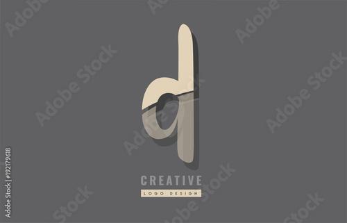 Grey Yellow Modern Alphabet Letter D Logo Icon Design