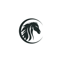 Horse logo vector graphic abstract download