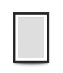 Blank picture frame for photographs. Vector illustration