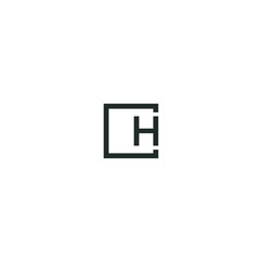 logo H letter vector graphic shape