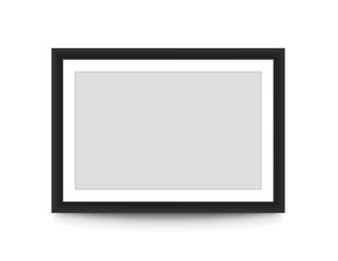 Blank picture frame for photographs. Vector