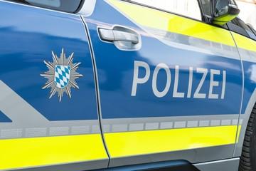 Nahaufnahme eines deutschen Polizei Autos